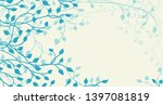 ivy and vines vector in blue... | Shutterstock .eps vector #1397081819