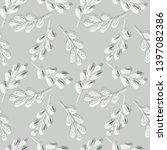 leaves seamless pattern. vector ... | Shutterstock .eps vector #1397082386