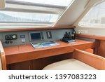 navigation station of a sailing ...   Shutterstock . vector #1397083223