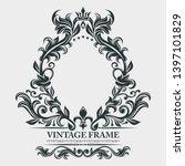 vector monogram. elegant emblem ... | Shutterstock .eps vector #1397101829