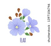 flax flower icon with seeds in...   Shutterstock .eps vector #1397106746