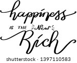 hand lettered happiness is the... | Shutterstock .eps vector #1397110583