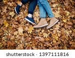 legs of a guy and a girl... | Shutterstock . vector #1397111816