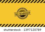 free membership inside warning... | Shutterstock .eps vector #1397120789
