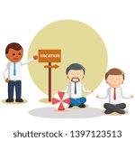 business relaxing when vacation ...   Shutterstock . vector #1397123513