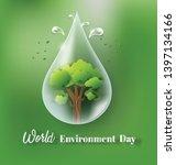 world environment day concept ... | Shutterstock .eps vector #1397134166