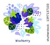 fresh blackberry berry berries... | Shutterstock .eps vector #1397137103
