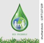 world environment day concept ... | Shutterstock .eps vector #1397137109