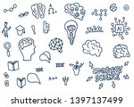 cognitive science signs. set of ... | Shutterstock .eps vector #1397137499