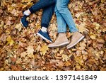 legs of a guy and a girl... | Shutterstock . vector #1397141849