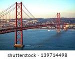 red bridge  lisbon  portugal | Shutterstock . vector #139714498