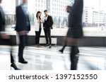 white collar workers going down ... | Shutterstock . vector #1397152550