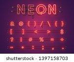 realistic glowing purple neon... | Shutterstock .eps vector #1397158703