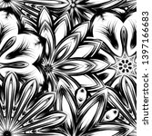 seamless floral background.... | Shutterstock .eps vector #1397166683