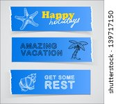 set of blue promotional banners ... | Shutterstock . vector #139717150