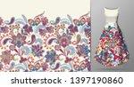 seamless vertical fantasy... | Shutterstock .eps vector #1397190860