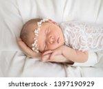 portrait of a newborn baby in... | Shutterstock . vector #1397190929