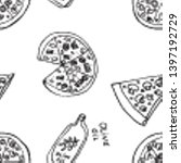 seamless pattern with hand... | Shutterstock .eps vector #1397192729