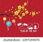 chinese new year 2020 lantern...   Shutterstock .eps vector #1397194070