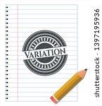 variation pencil effect. vector ... | Shutterstock .eps vector #1397195936