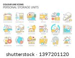 personal storage unit related ... | Shutterstock .eps vector #1397201120
