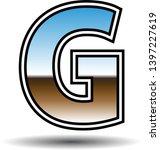 glossy retro font letter g | Shutterstock .eps vector #1397227619