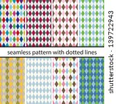 seamless pattern with dotted... | Shutterstock .eps vector #139722943
