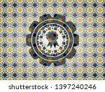 ribbon icon inside arabesque... | Shutterstock .eps vector #1397240246