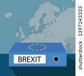 brexit concept  blue ring... | Shutterstock .eps vector #1397243333