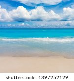 tropical sea beach with waters... | Shutterstock . vector #1397252129