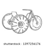 aqua cycle water trike tricycle ... | Shutterstock .eps vector #1397256176
