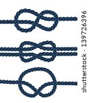 nautical blue knots on white... | Shutterstock .eps vector #139726396