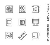set line icons of computer... | Shutterstock .eps vector #1397271173