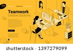 black and yellow flat design... | Shutterstock .eps vector #1397279099