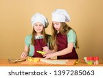 pastry is being baked. little...   Shutterstock . vector #1397285063