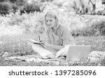 guide starting freelance career.... | Shutterstock . vector #1397285096
