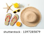 flat lay composition with... | Shutterstock . vector #1397285879