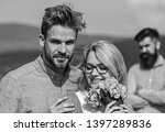 couple in love dating while... | Shutterstock . vector #1397289836