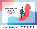 professional growth landing... | Shutterstock .eps vector #1397291159