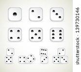 numbers of dice. vector  1 10...   Shutterstock .eps vector #139730146