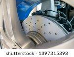 modern car disk brakes close up ... | Shutterstock . vector #1397315393