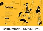 flat design isometric vector... | Shutterstock .eps vector #1397320493
