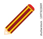 pencil vector icon. filled flat ... | Shutterstock .eps vector #1397322839