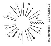 sunburst round line circle.... | Shutterstock .eps vector #1397328623