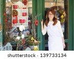 smiling mature woman florist... | Shutterstock . vector #139733134