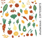 collection of hand drawn vector ... | Shutterstock .eps vector #1397333873