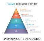 pyramid infographic template...   Shutterstock .eps vector #1397339300