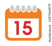 15 date calendar icon. simple... | Shutterstock .eps vector #1397344979