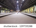 passenger platform at the night ...   Shutterstock . vector #139735288