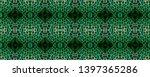 snake skin. black  green  white ...   Shutterstock . vector #1397365286